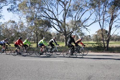 Group shot riding