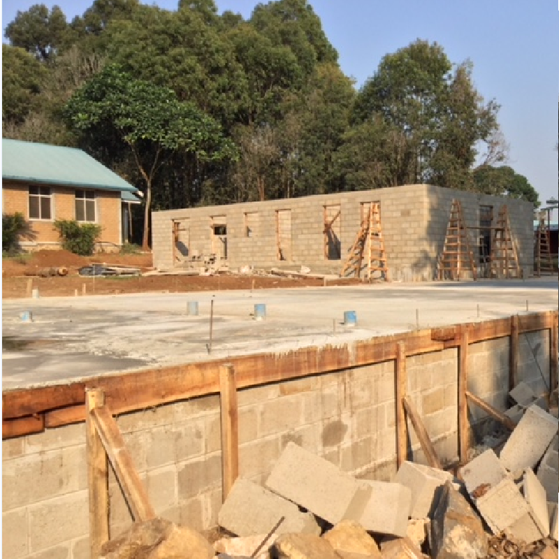 Construction of Girl's Dorm underway in June 2019